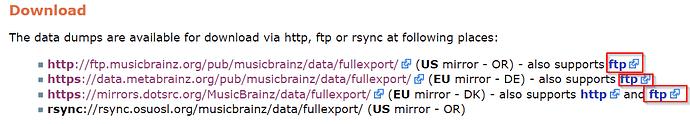 FTP links