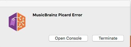 MusicBrainz Picard Error