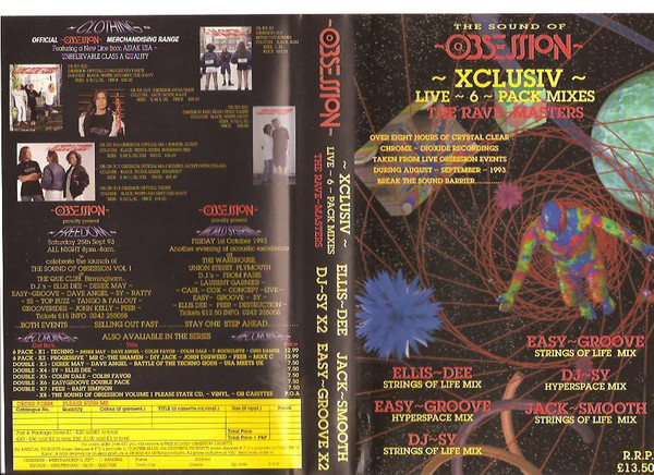 Obsession - XCLUSIV - The Rave Masters - Live 6 Pack Mixes